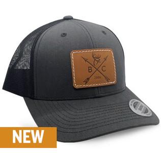 Buck Commander Charcoal Arrow Leather Patch Hat