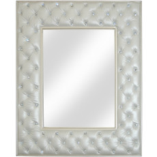 Crystal Tufted Mirror