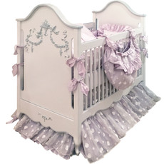 Belle Paris Crib - Silver