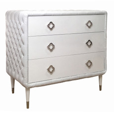 Jewels 3-Drawer Dresser - Tufted w/Diamonds