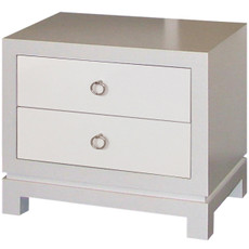 Tempo Nightstand - 2 Drawers in Mod White