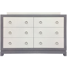 Tempo Dresser 6 Drawer - Gray