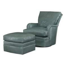 Oscar Swivel Glider - Leather