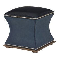 Concavo Ottoman - Leather