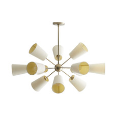Amsterdam Chandelier - Pale Brass