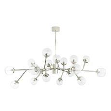 Dallas Medium Chandelier - Polished Nickel