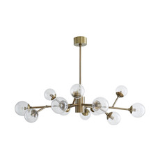 Dallas Small Chandelier - Vintage Brass