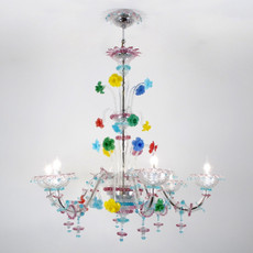 Ca 'Rezzonico Multi-color Chandelier - 6 Lights
