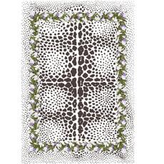 Floral Leopard Rug