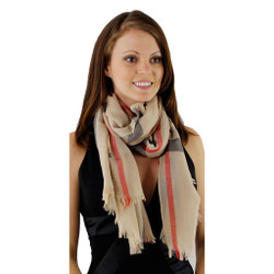 Contemporary Checkered Long Unisex Scarf