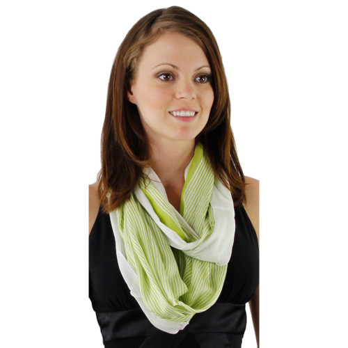 Infinitely Impeccable Feather Light Infinity Stripe Scarf