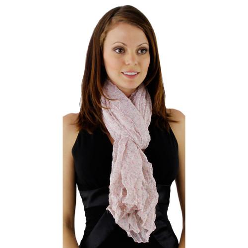 Cheeky Chiffon Feminine Floral Crinkle Fabric Scarf