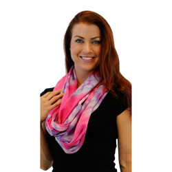Infinity Hippie Feather Light Tie-Dye Loop Scarf