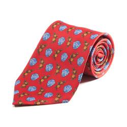 100% Silk Handmade Floral Vase Tie