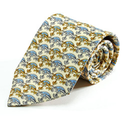 100% Silk Handmade Crest of Valor Tie