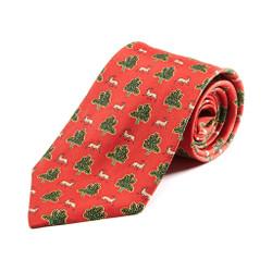 100% Silk Handmade Antelope Savannah Tie