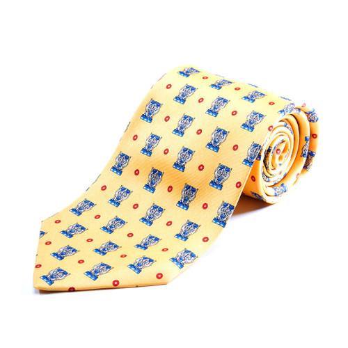 100% Silk Handmade Eagle Urn Tie