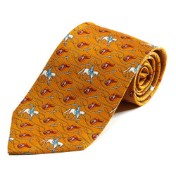 100% Silk Handmade Eventing Saddle Tie