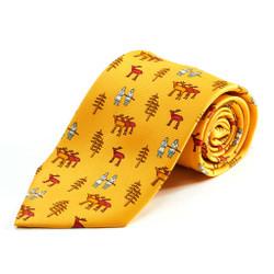 100% Silk Handmade Alaskan Caribou Tie