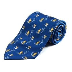 100% Silk Handmade Bobcat and Kitten Tie