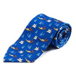 100% Silk Handmade Siberian Huskies Tie