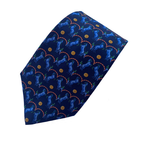 Navy Blue 100% silk