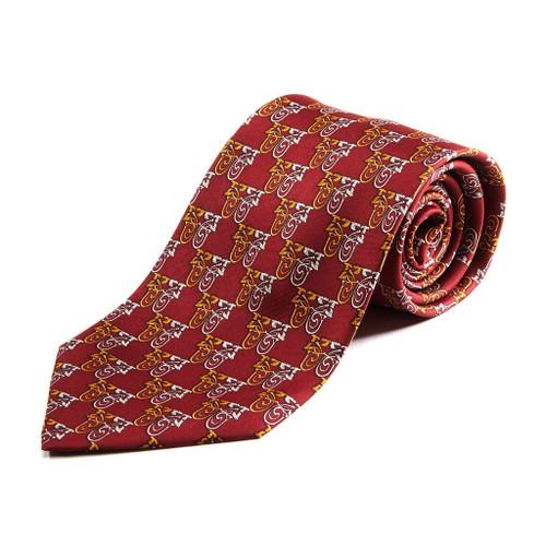 100% Silk Handmade Hibiscus Spiral Tie