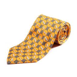 100% Silk Handmade Asian Gulls Tie