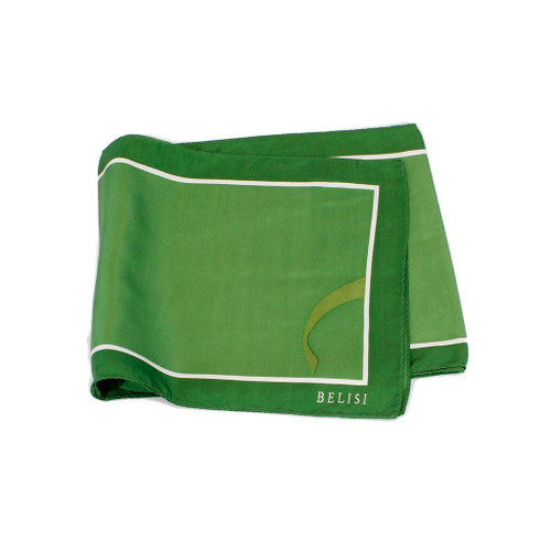 Going Green Two-Toned Long Silk Scarf By Belisi