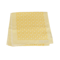 Cheese and Wine Party Long Silk Scarf In Yellow