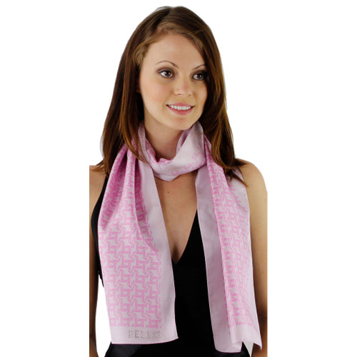 Perfectly Pink B Print Silk Scarf by Belisi