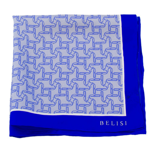 Ice Blue Silk Pocket Square or Handkerchief by Belisi