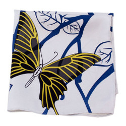 Graphic Butterfly Silk Pocket Square or Handkerchief by Belisi