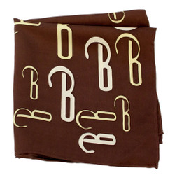 Coffee House Logo Silk Pocket Square or Handkerchief by Belisi