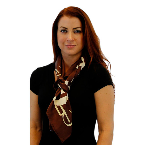 Coffee House Logo Large Square Silk Scarf by Belisi
