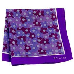 Fiore Rosso Silk Pocket Square or Handkerchief by Belisi