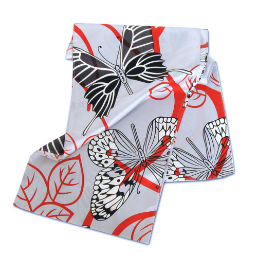 Graphic Butterfly Silk Scarf by Belisi