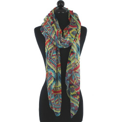 Muted Aztec Design - Long Scarf