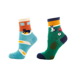 Happy Home Ladies Crew Socks Set of 2