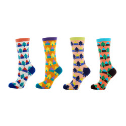 Happy Home Ladies Crew Socks Set of 4