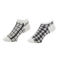 Across the Grid Geometric Ladies Anklets Set of 2