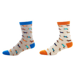 Lion's Share Ladies Cotton Crew Socks Set of 2