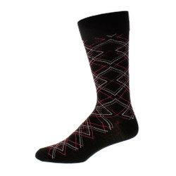 Mens Exclusive Diamond Dress Sock