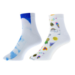 Stepping Off the Street Graphic Print Socks 2 Pair