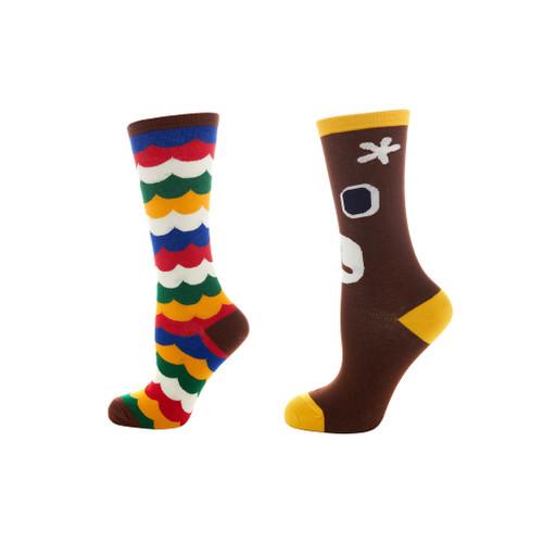 Season of Fun Ladies Crew Socks Set of 2