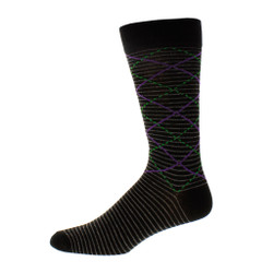 Mens Monaco Diamond Dress Sock