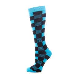 Chess Board Ladies Neon Knee High Socks