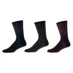 Powerful Stripe Men's Dress Sock 3 Pair Set