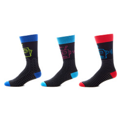 Robotic Rampage Mens Trouser Socks Set of 3