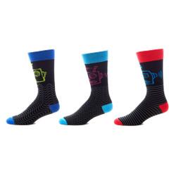 Robotic Rampage Mens Trouser Socks Set of 3